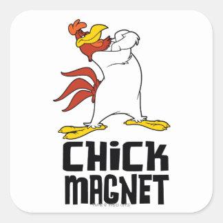 Chick Magnet Square Sticker