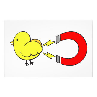 Chick Magnet Personalized Stationery