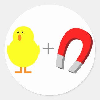 Chick Magnet Classic Round Sticker