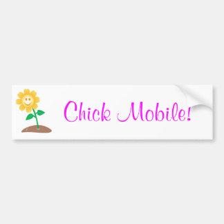 Chick Mobile! Car Bumper Sticker