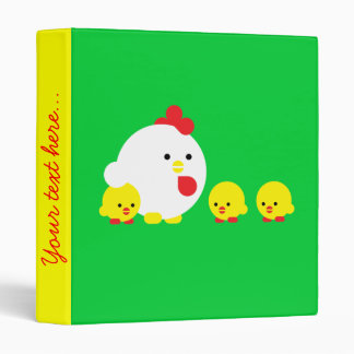 Chick 'n chicks 3 ring binder
