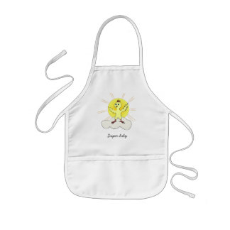 Chick on cloud - Super baby Kids' Apron