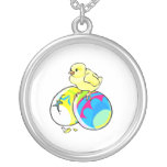 chick on two colored easter eggs jewelry
