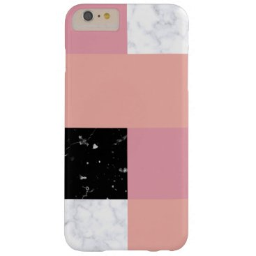 Chick orange pink white black marble color block barely there iPhone 6 plus case