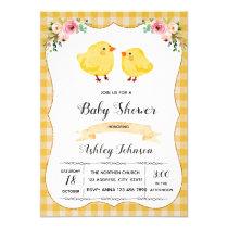 Chick party invitation