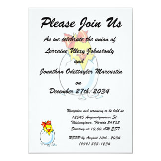 chick red ribbon hatching egg card