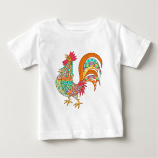 chick rooster bird design art colorful fun cool baby T-Shirt