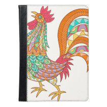 chick rooster bird design art colorful fun cool iPad air case