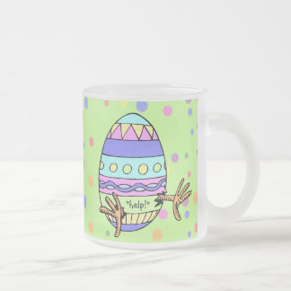 Chick SOS Funny Easter 10 Oz Frosted Glass Coffee Mug