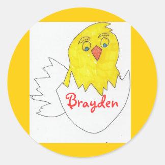 Chick stickers 4:  Brayden