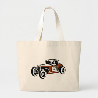 Chick Stockwell Old Time Race Car Racearena Large Tote Bag