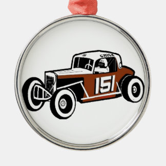Chick Stockwell Old Time Race Car Racearena Metal Ornament