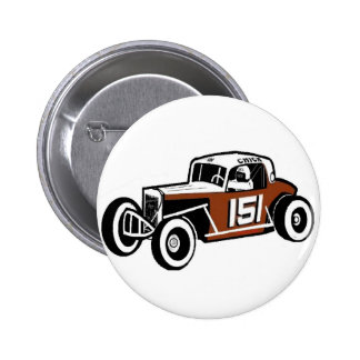 Chick Stockwell Old Time Race Car Racearena Pinback Button
