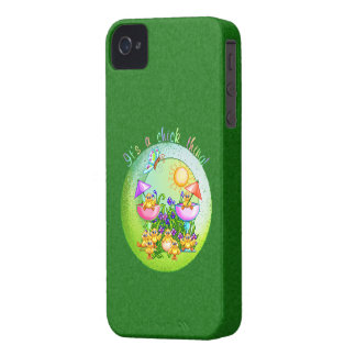 Chick Thing Pixel Art Case-Mate iPhone 4 Cases