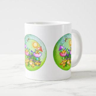 Chick Thing Pixel Art Large Coffee Mug