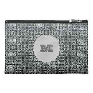 Chick Vintage Style Pattern Monogram Travel Accessory Bag