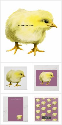 Chick Watercolor Painting