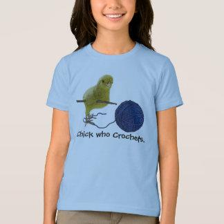Chick who Crochets Girls T-shirt