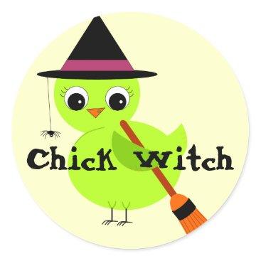 kat_parrella Chick Witch Stickers