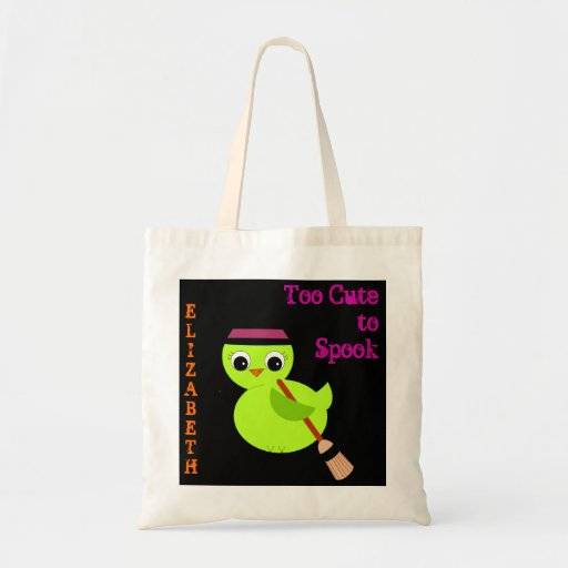 Chick Witch Too Cute Halloween Tote Bag