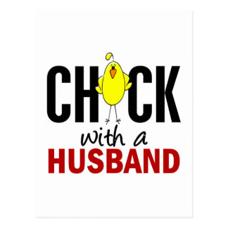 Chick With A Husband Postcard