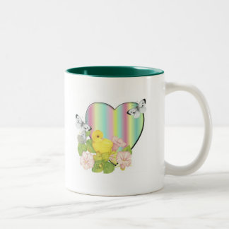 chick with butterflies mugs