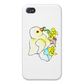 chick with worm eggshell flower iPhone 4/4S covers
