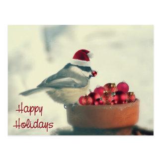 Chickadee adorable del día de fiesta tarjetas postales