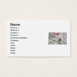 Chickadee and Red Berries in Winter Business Card