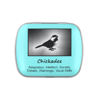 Chickadee Animal Spirit Meaning Collectible Candy Tin