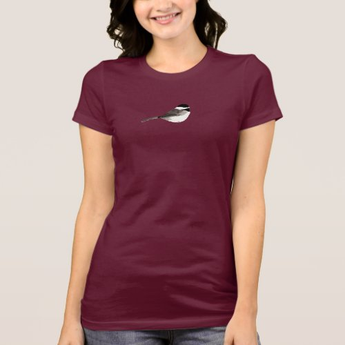 Chickadee Art dark background T_Shirt