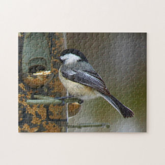 Chickadee At The Birdfeeder Jigsaw Puzzle