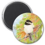 Chickadee Autumn Bird Fall Color Magnet