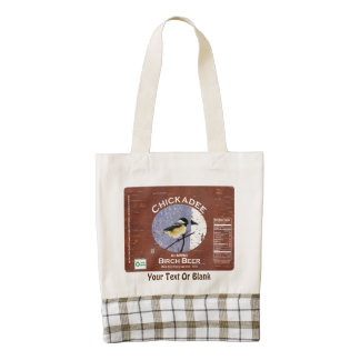 Chickadee Birch Beer Label Zazzle HEART Tote Bag