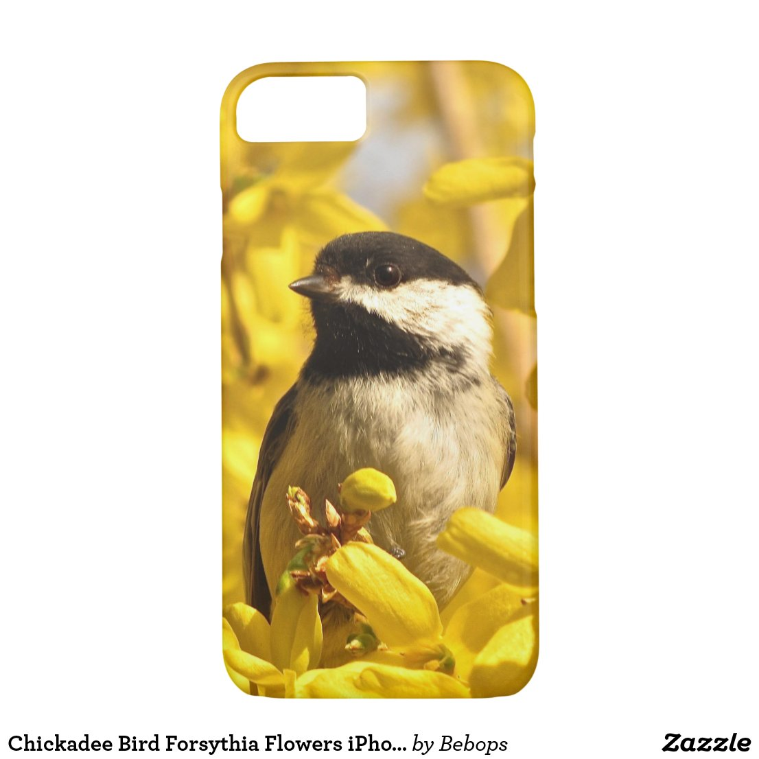Chickadee Bird in Forsythia Flowers iPhone 7 Case