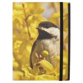 Chickadee Bird in Yellow Flowers iPad Pro Case
