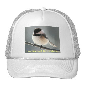 Chickadee Birdwatcher Trucker Hat