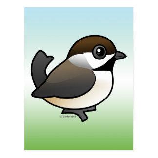 Chickadee boreal tarjeta postal