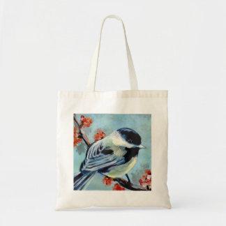 Chickadee Budget Tote Bag