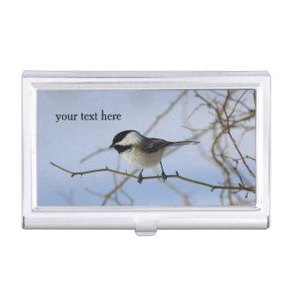 Chickadee Business Card Holder