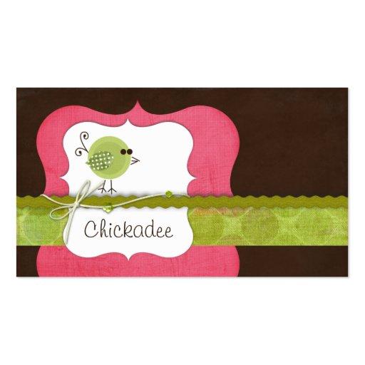 Chickadee Business Cards