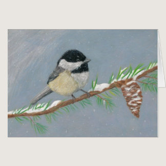 Chickadee by Autistic Artist Marcy Deutsch Card