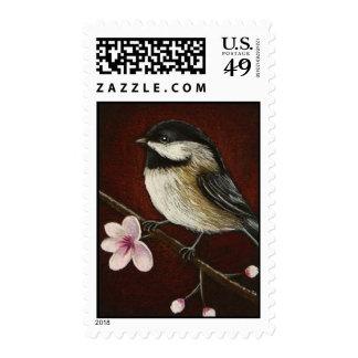 Chickadee & Cherry Blossoms Postage