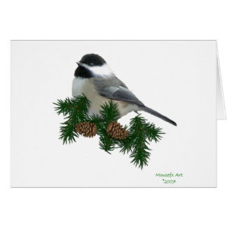 Chickadee Christmas Card
