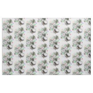 Chickadee Christmas Fabric