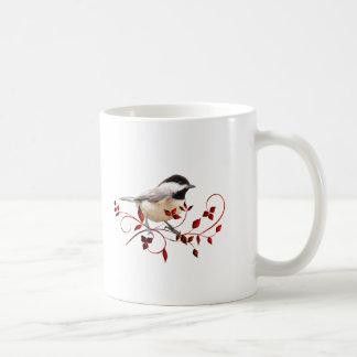 Chickadee Classic White Coffee Mug