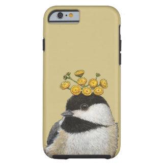Chickadee con el caso del iPhone 6 del tansy Funda De iPhone 6 Tough