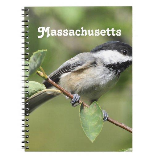 Chickadee de Massachusetts Cuaderno