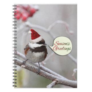 Chickadee del navidad libretas espirales