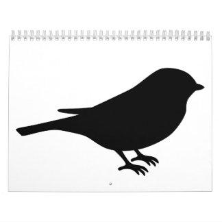 Chickadee del pájaro calendario de pared